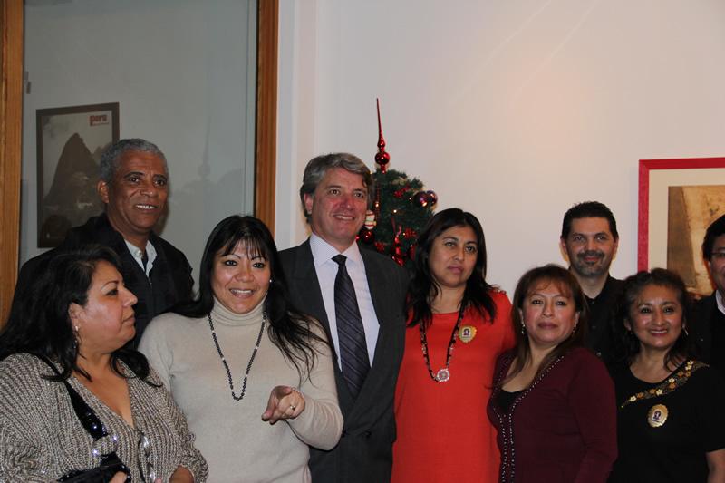 Brindis navideño en el Consulado de Ginebra