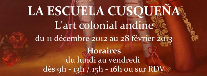 Expo pinturas Escuela Cusqueña