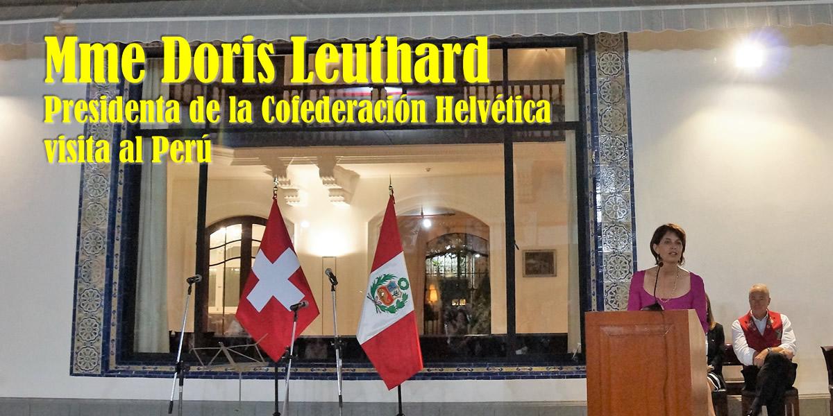 La Presidenta de Suiza visita el Perú