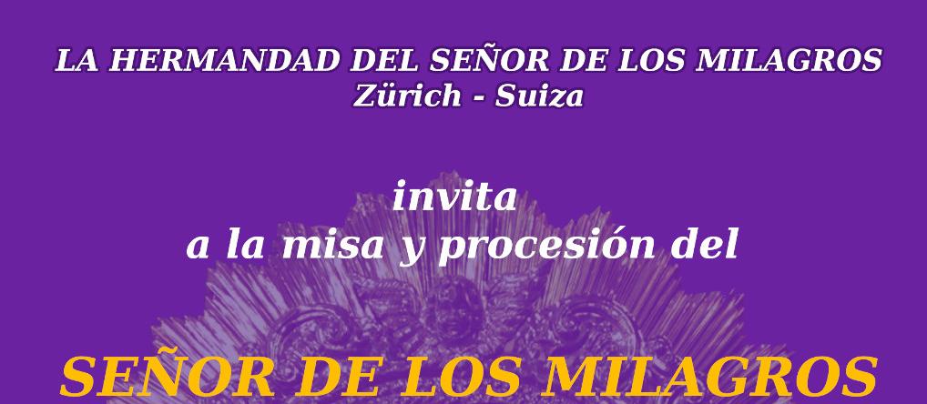 Misa y Procesión del Sr de los Milagros en Zürich