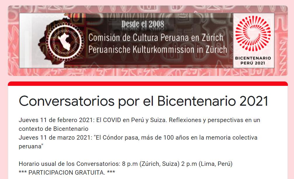 Conversatorios por el Bicentenario 2021